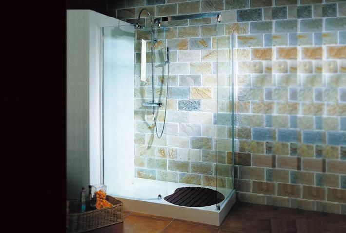 installer une cabine de douche en vid o cr ation bain cr ation bain. Black Bedroom Furniture Sets. Home Design Ideas