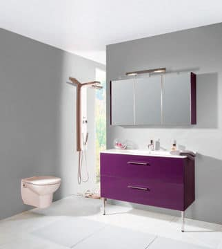 Violet archives cr ation bain cr ation bain for Salle de bain mauve et blanc