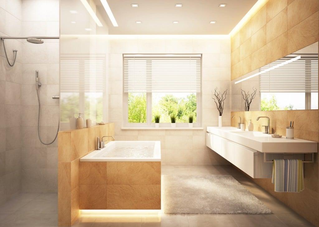 Une d coration de salle de bains tendance nature tous nos conseils cr ati - Salle de bains tendance ...