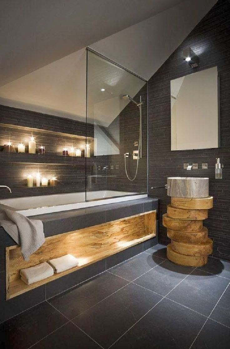 du bois dans ma salle de bain cr ation bain cr ation bain. Black Bedroom Furniture Sets. Home Design Ideas