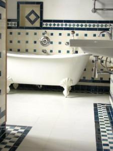 salle de bain faience ancien