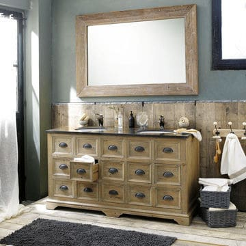 Ambiance brocante à la salle de bains @Maisons du monde