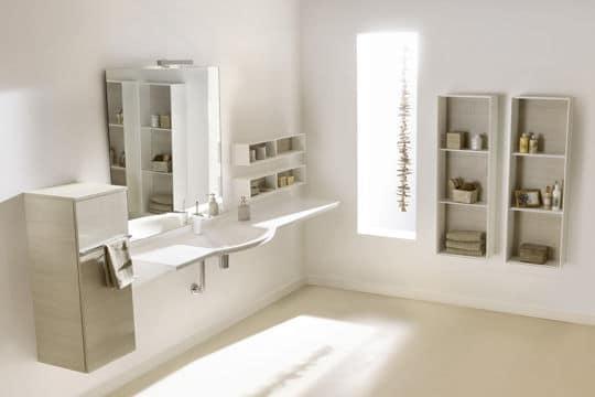 Blanc tendance dans la salle de bains @Ambiance Bain