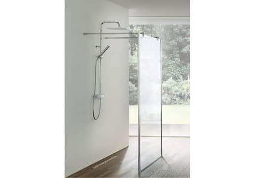 Paroi anti calcaire pour une douche à l'italienne @Nabis pour Brossette