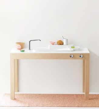 Salle de bains minimaliste @Cedeo
