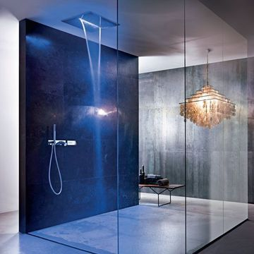 Une douche hight-tech lumineuse @Fantini