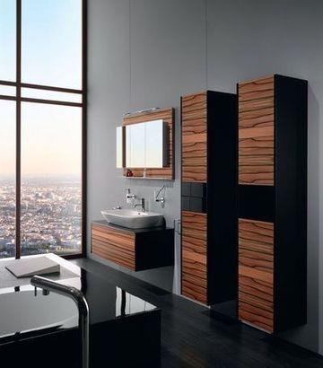Une salle de bains en bois texturé @Nolff